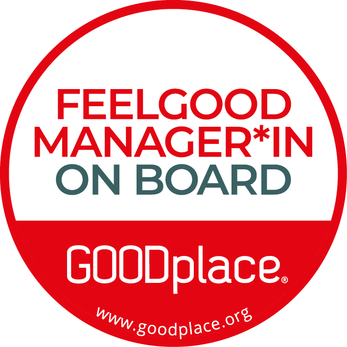 Feelgood Management bei xeomed: Feelgood Manager*in on Board-Siegel von GOODplace.
