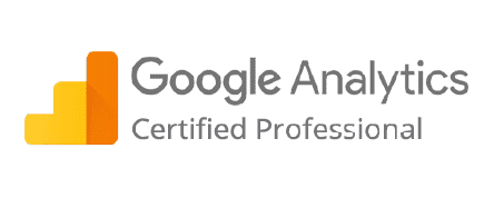 Logo des Google Analytics-Zertifikats von xeomed.