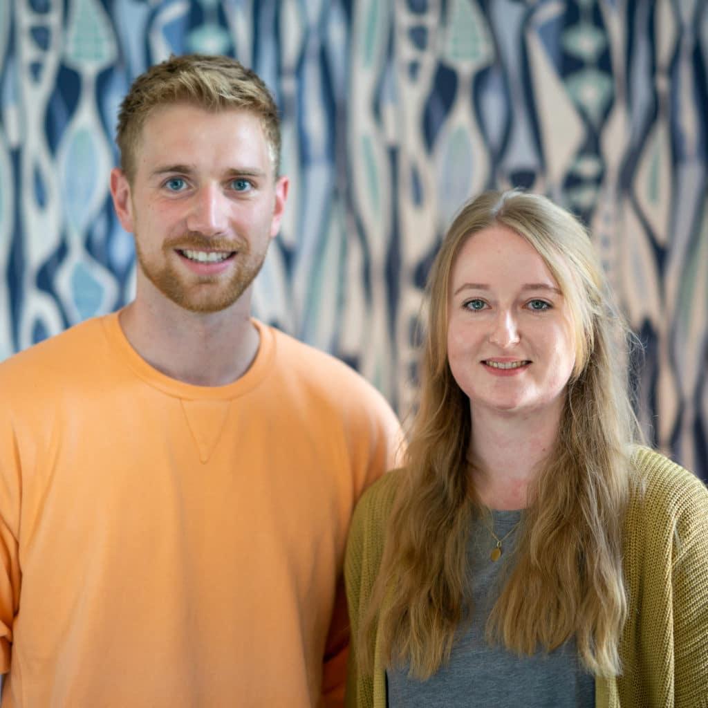 Bild von Dennis Ludwig und Marlene Riedel, Account Executives bei xeomed.